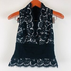 Tadashi Collection lace top like new
